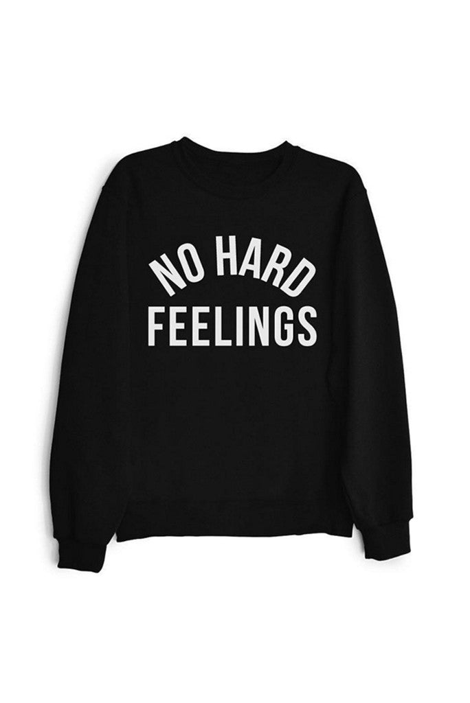 No Hard Feelings - Black Unisex Crewneck