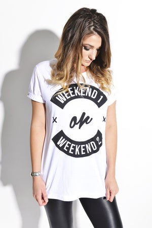 Coachella Weekend 1 or Weekend 2 - White Unisex Tee