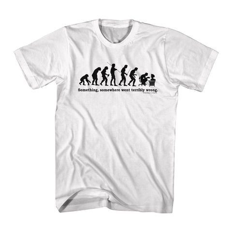 Funny De-Evolution (White)