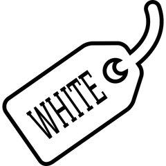 White Sales Tag - Distortion Brothers Guitar Shop