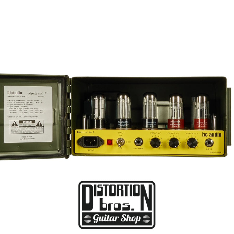 BC Audio Amplifier No. 7 - Distortion Brothers Guitar Shop