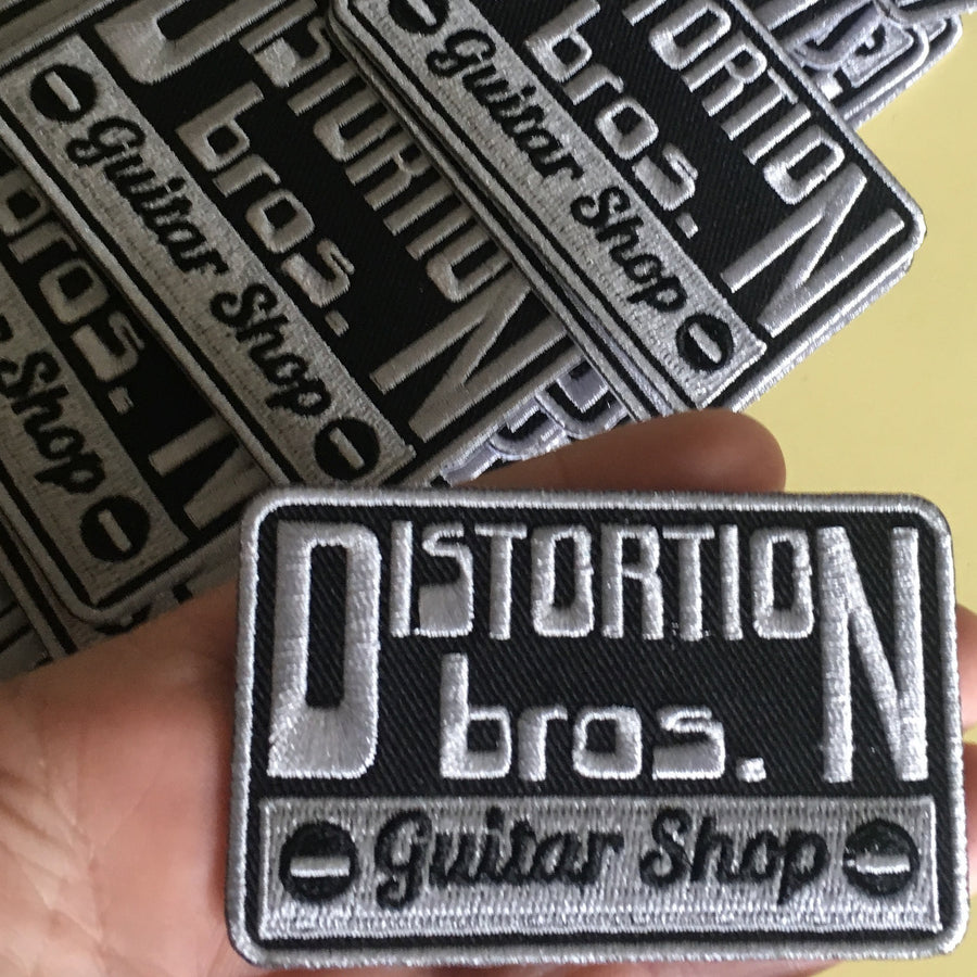 Embroidered Patch - Distortion Brothers Guitar Shop