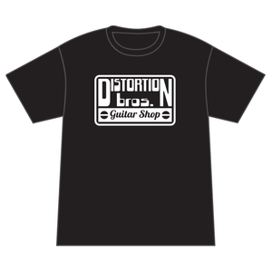 Short Sleeve T-Shirt in Black & White - Distortion Brothers Guitar Shop