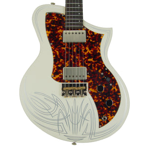 Titan Guitars KR1 in White with Pinstripe - Distortion Brothers Guitar Shop