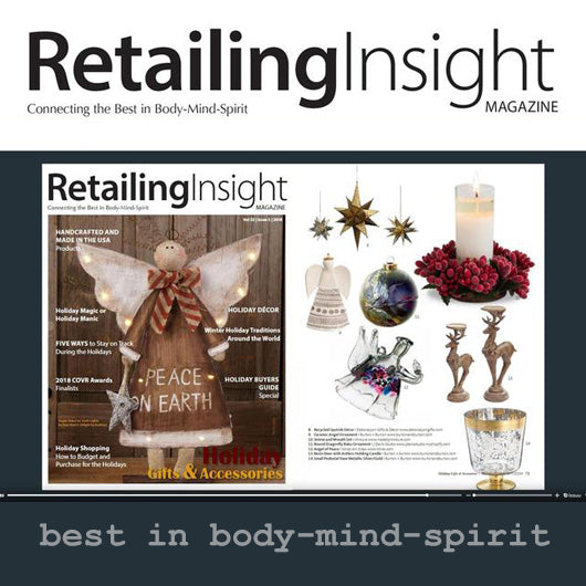 Raku Ornament Editor's Pick in Retailing Insight Magazine
