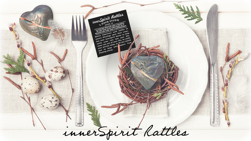 innerSpirit Rattles make dinner party table place settings special