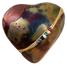 J. Davis Studio Raku innerSpirit Rattles | Smooth Sailing Spirit Rattle Wrapped with Japanese Seed Beads