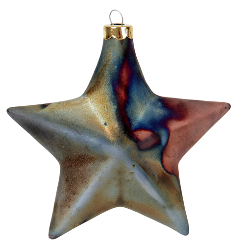 J. Davis Studio Raku Ornaments | Star Raku Pottery Ornament