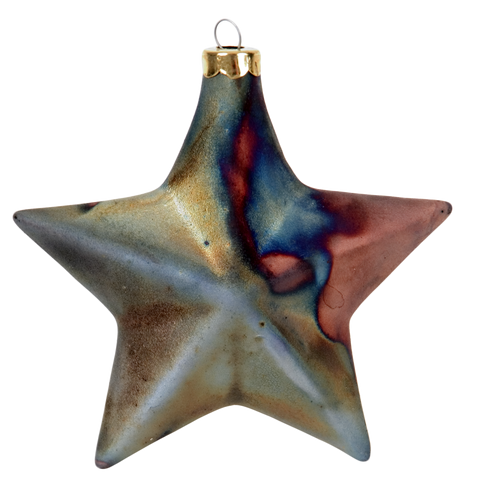 Star Smooth Raku Ornaments by J. Davis Studio
