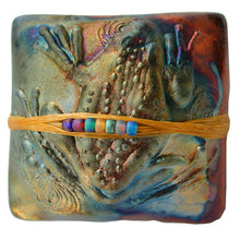 J. Davis Studio Raku innerSpirit Rattles | Frog Spirit Rattle Wrapped with Japanese Seed Beads