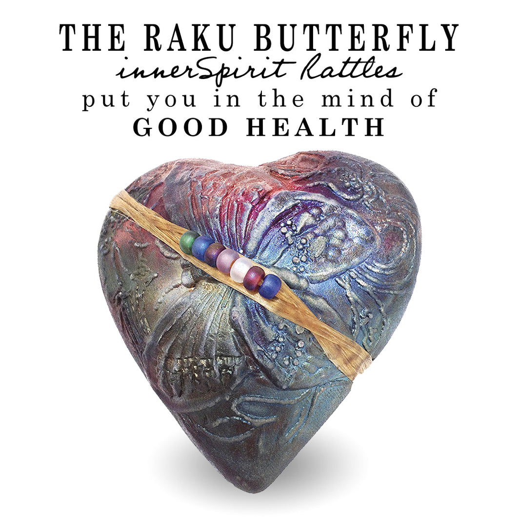 Butterfly Raku Heart innerSpirit Rattle