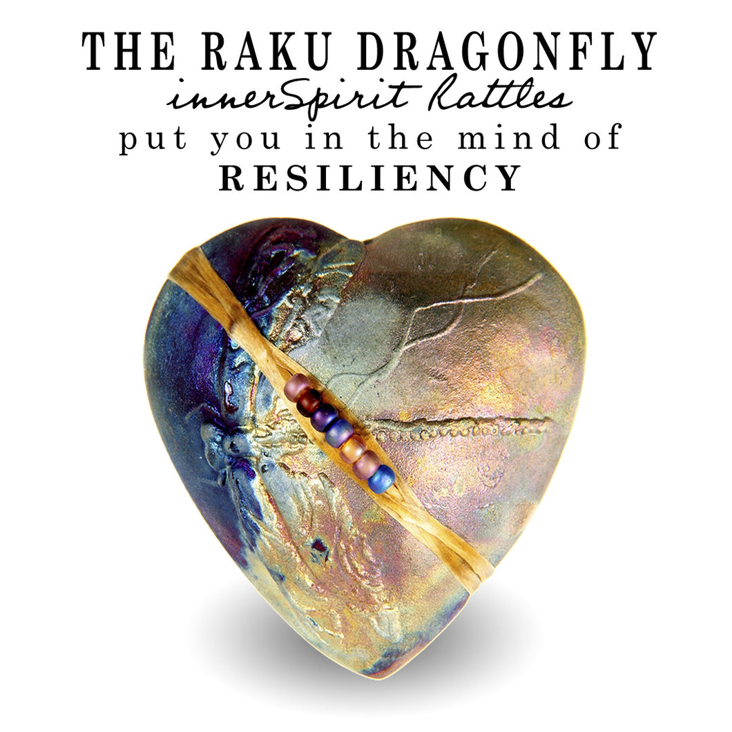 Dragonfly Heart Raku innerSpirit Rattle