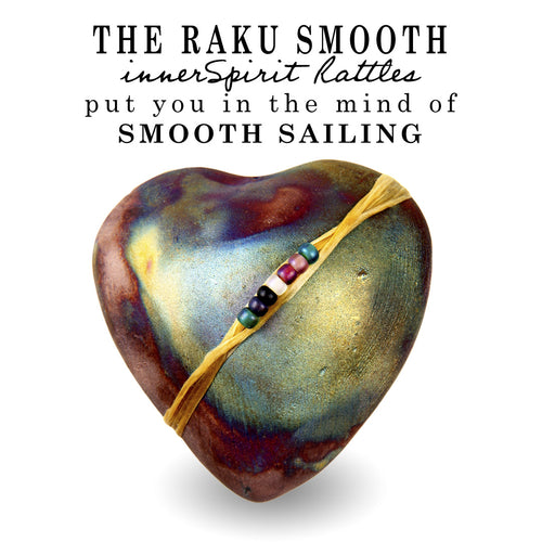 Smooth Sailing Raku Heart innerSpirit Rattle