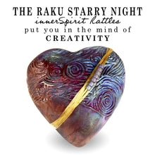 Starry Night Raku Heart innerSpirit Rattle