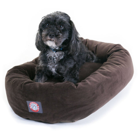 "24"" Bagel Microvelvet Dog Bed - Happy Paws Pet Shop - 1"