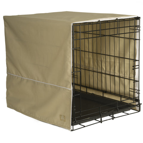 Classic Dog Crate Cover - Khaki