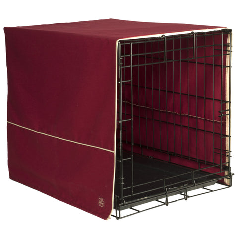 Classic Dog Crate Cover - Burgundy