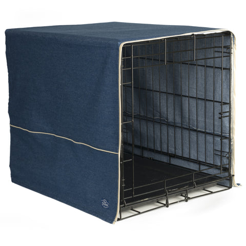 Classic Dog Crate Cover - Denim