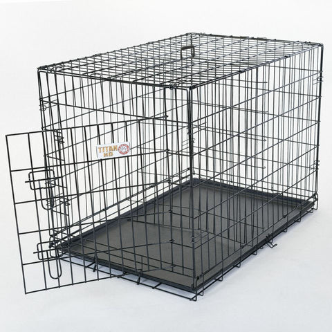 "36"" Single Door Folding Dog Crate - Happy Paws Pet Shop - 1"