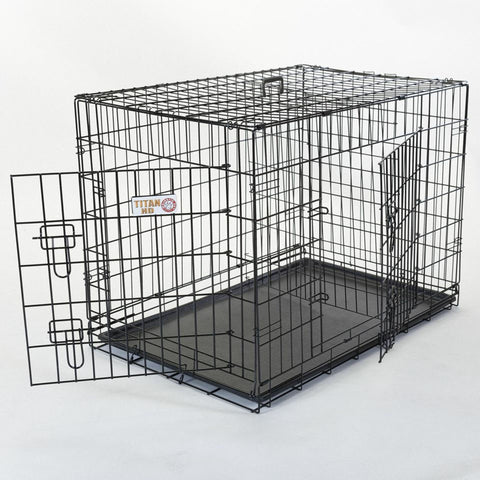 "24"" Double Door Folding Dog Crate - Happy Paws Pet Shop - 1"