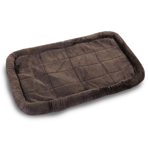 "24 - 48"" Charcoal Colored Dog Crate Bed Mat - Happy Paws Pet Shop"