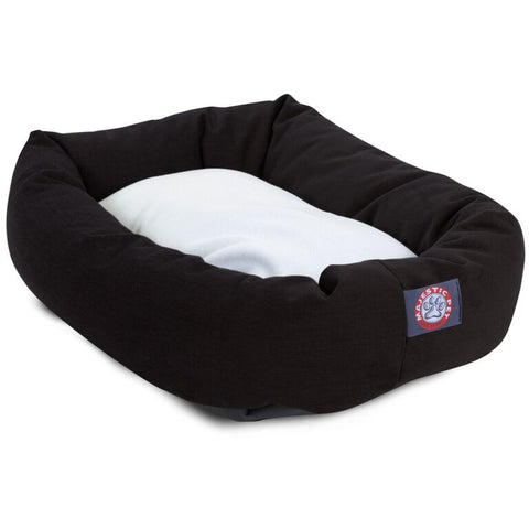 "52"" Extra-Large Bagel Dog Bed w/ Sherpa Cushion - Happy Paws Pet Shop - 1"