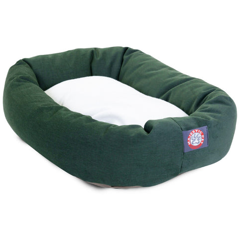 "24"" Small Bagel Bed w/Sherpa Cushion - Happy Paws Pet Shop - 1"