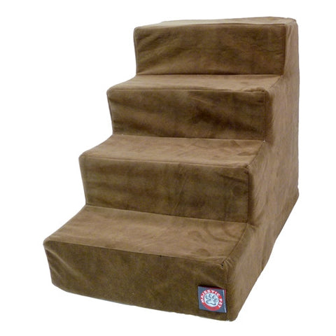 "4 Step 20"" High Microvelvet Pet Stairs - Happy Paws Pet Shop - 1"