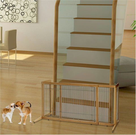 Bamboo Freestanding Dog Gate - Happy Paws Pet Shop