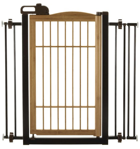 Bamboo One Touch Dog Gate - Happy Paws Pet Shop - 1