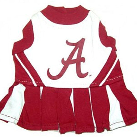 Alabama Crimson Tide NCAA Cheerleader Dog Dress - Happy Paws Pet Shop - 1