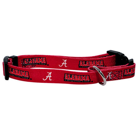 Alabama Crimson Tide NCAA Licensed Dog Collar - Happy Paws Pet Shop