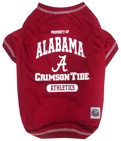 Alabama Crimson Tide NCAA Dog Tee Shirt - Happy Paws Pet Shop - 1