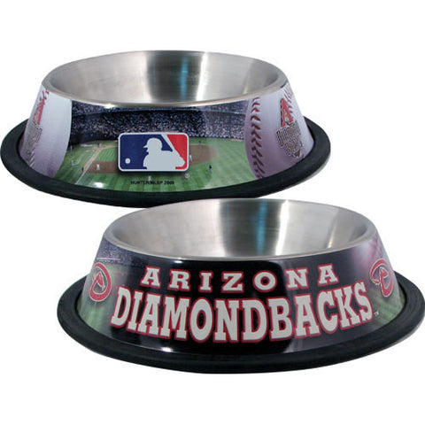 Arizona Diamondbacks Stainless Steel MLB Dog Bowl - Happy Paws Pet Shop