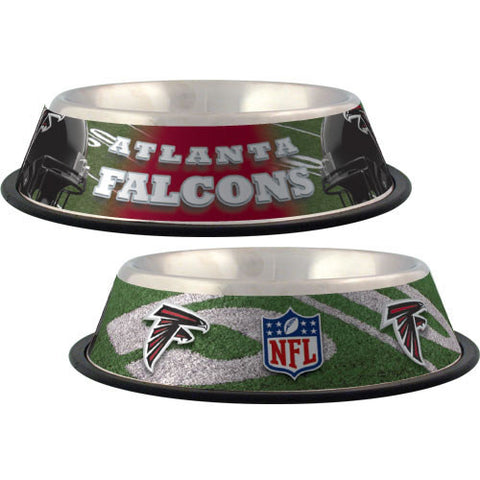 Atlanta Falcons Stainless Steel NFL Licensed Dog Bowl - Happy Paws Pet Shop