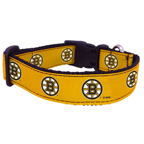 Boston Bruins NHL Licensed Ribbon Dog Collar