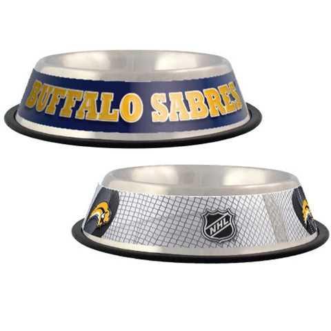 Buffalo Sabres Stainless Steel NHL Dog Bowl - Happy Paws Pet Shop