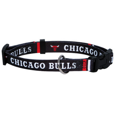 Chicago Bulls NBA Dog Collar - Happy Paws Pet Shop