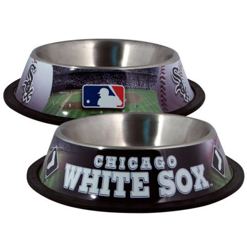 Chicago White Sox Stainless Steel MLB Dog Bowl - Happy Paws Pet Shop