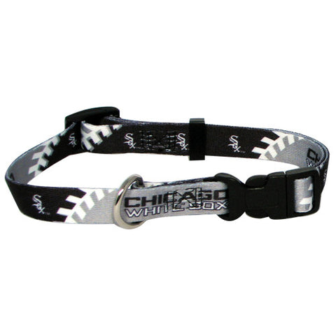 Chicago White Sox MLB Licensed Dog Collar - Happy Paws Pet Shop