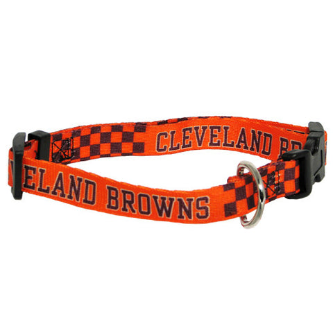 Cleveland Browns NFL Licensed Dog Collar - Happy Paws Pet Shop