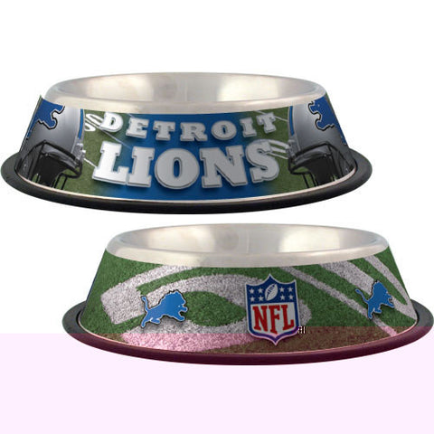 Detroit Lions Stainless Steel NFL Licensed Dog Bowl - Happy Paws Pet Shop