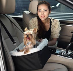 FurryGo Adjustable Luxury Pet Car Booster Seat - Happy Paws Pet Shop