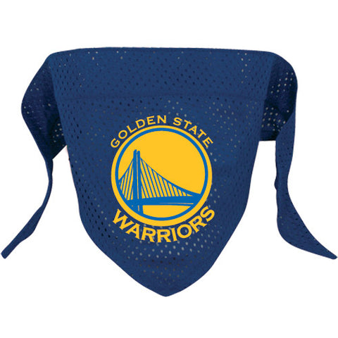 Golden State Warriors NBA Licensed Dog Bandana - Happy Paws Pet Shop - 1