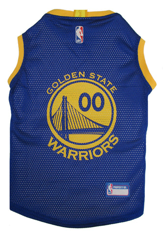 Golden State Warriors Licensed NBA Dog Jersey - Happy Paws Pet Shop - 1
