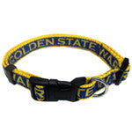 Golden State Warriors Ribbon Dog Collar - Happy Paws Pet Shop