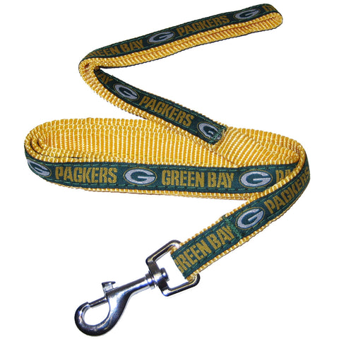 Green Bay Packers Ribbon NFL Dog Leash - Happy Paws Pet Shop