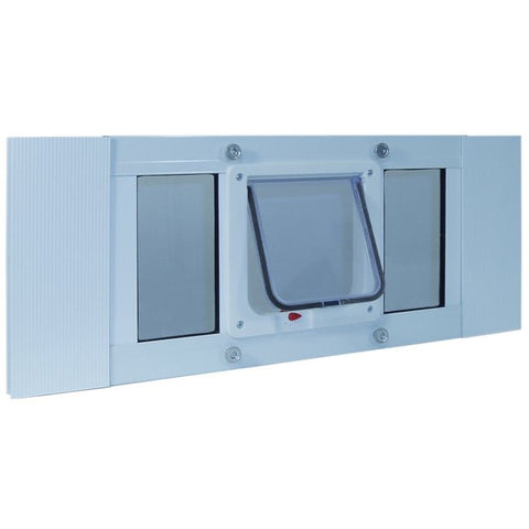 Aluminum Sash Window Cat Flap - 23 to 28 Inches - Happy Paws Pet Shop