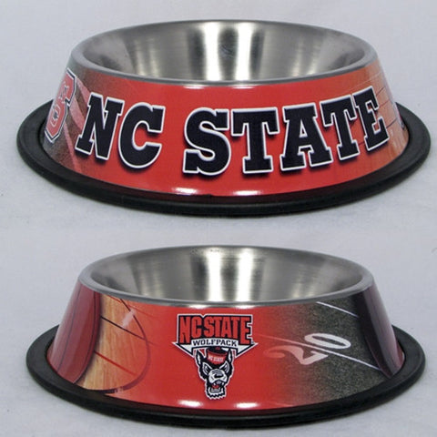 North Carolina State Wolfpack Stainless Steel Dog Bowl - Happy Paws Pet Shop