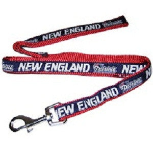 New England Patriots Ribbon NFL Dog Leash - Happy Paws Pet Shop